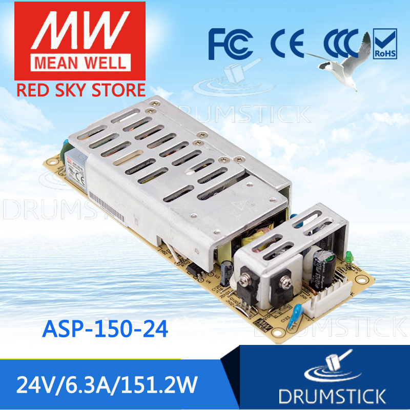 Selling Hot MEAN WELL ASP-150-24 24V 6.3A meanwell ASP-150 24V 151.2W Single Output with PFC Function [nc c] mean well original epp 150 24 24v 4 2a meanwell epp 150 24v 100 8w single output with pfc function