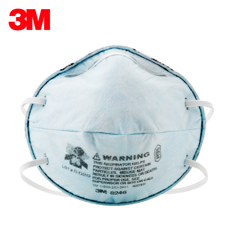 3M 8246 Safety Mask Coolflow Valve Anti-particles Respirator Mask Dust Mask R95 Standards Respiratory Protection H012808