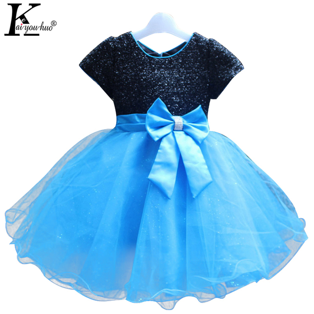 2017 Girls Dress Princess Short Sleeve Birthday Party Dresses For Girls Children Clothing Summer Wedding Dress Costume For Kids