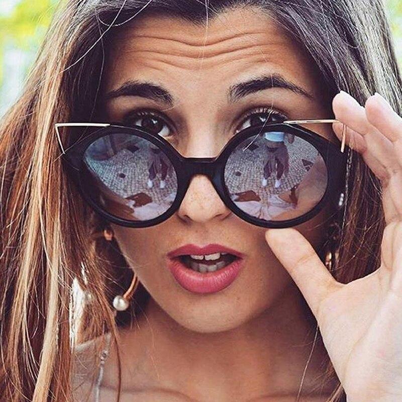 Retro Vintage Women Carter Cat Eye Sunglasses Female Lunette Sun Glasses Luxury Brand Girl Driver Cateye Pink Eyeglasses femme