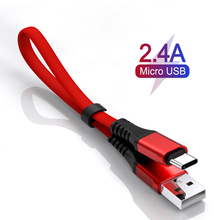 30CM Portable Micro USB Cable Mobile phone Charger Type C Fast Charging Data Sync Cord For iphone Huawei Android Phone