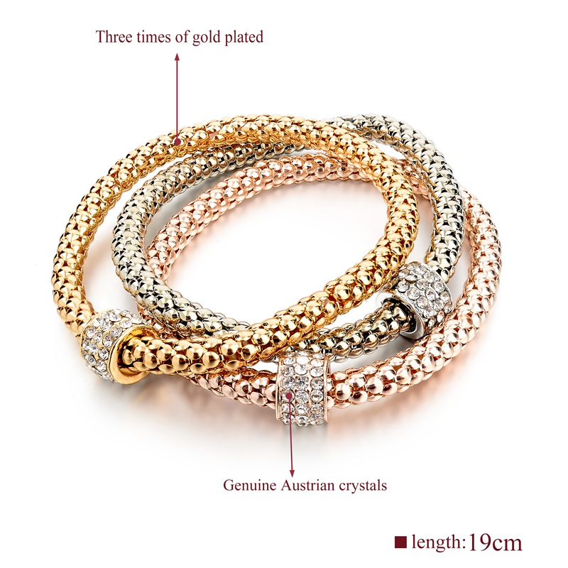 hot bangle crystal gold wholesale link i new arrivals plated fashion shipping stretch bangles bracelet free