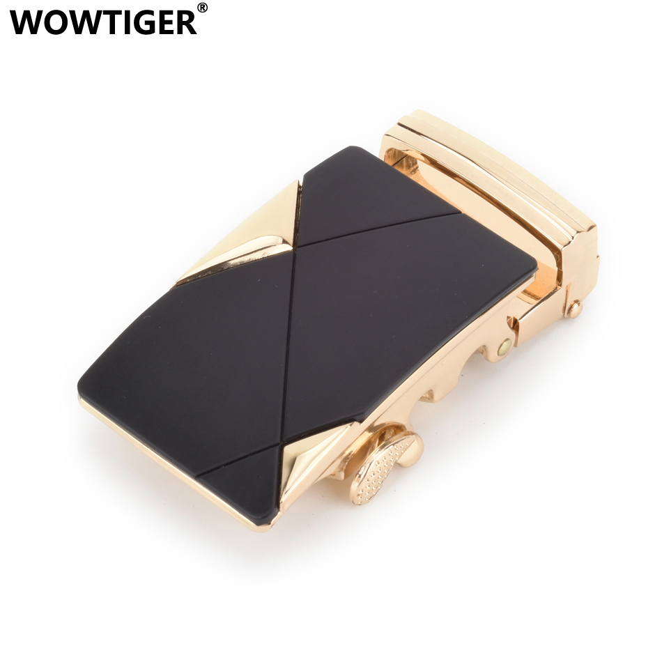 WOWTIGER Mens Brand Automatic Black Belt Buckles Suitable 3.5cm Belt For Men Buckle Hebill Cinturon Boucle De Ceinture