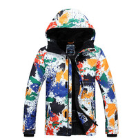 Gsou Snow New Men's Double Snowboard Ski Clothing Korean Style Thick Warm Windproof Waterproof Ski Jacket Size XS XL