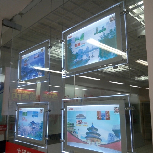 Tienda Online 24 unids dos lados acrílico ventana cartel pantalla ...