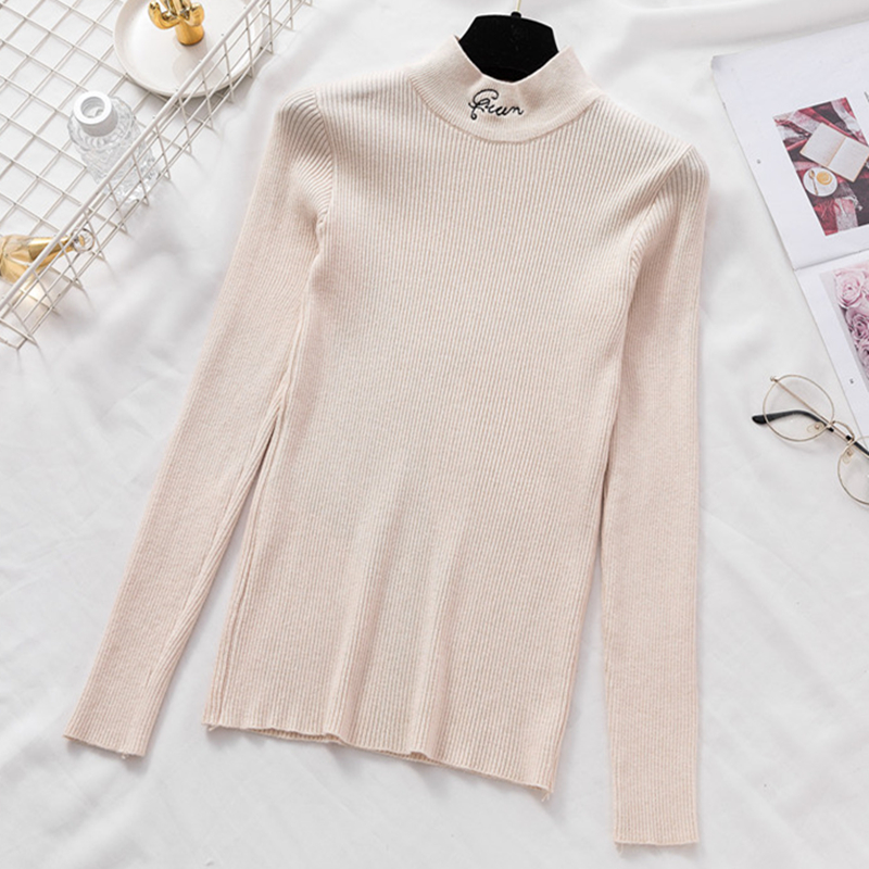 Women Sweater Winter knitted Turtleneck Sweaters Women Womens Sweaters Fashion Woman Korean Woman Pullover Sueter Mujer Sweater in Pullovers from Women 39 s Clothing