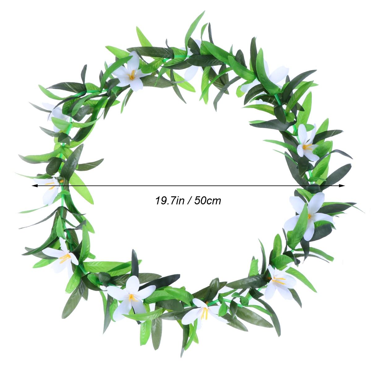 Hawaiian Luau Party Leis Necklace Simulated Summer Flower Wreaths ...