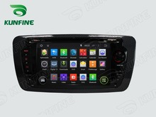 Quad Core 1024*600 Android 5.1 Car DVD GPS Navigation Player for IBIZA 2013Radio Bluetooth 3G Wifi Steering Wheel Control Remote