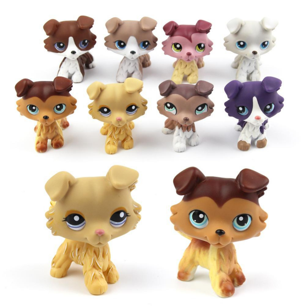 Lovely Pet Collection Action Figure Toy Mini Toy Animal dog Toy Kids Gifts 8 stlyes lovely pet collection lps figure toy black yellow short hair siamese cat blue eyes nice gift kids