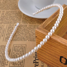 New Hot Korean Sample design Imitation Pearl Hair Band Girls Hair Accessories Women Headband Wedding Party Bridal Hair Hoop(China)