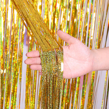 Foil Glitter Backdrop Curtain Tinsel Fringe Door Adult Shimmer Wedding Birthday Party Curtains Wall Decor Photo Booth