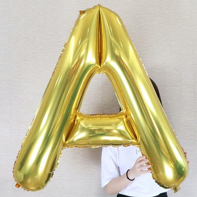 Lớn 40 inch Lá Bóng 26 Letter Nhà Trang Trí Sinh Nhật Tổ Chức Sự Kiện Đảng Wedding vàng sliver Helium Bóng Bay Bé Tắm Đồ Chơi