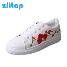 2017 New women Skateboarding shoes Summer breathable Sneakers for women Super Light Embroidered sport women shoes zapatos mujer