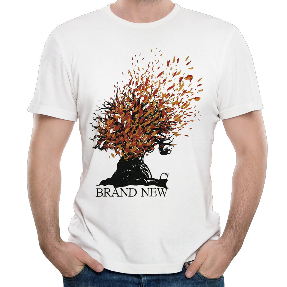 Mens Brand New Burning Oak Cotton Top Tees Vintage Printing Crew Neck Basic Tees