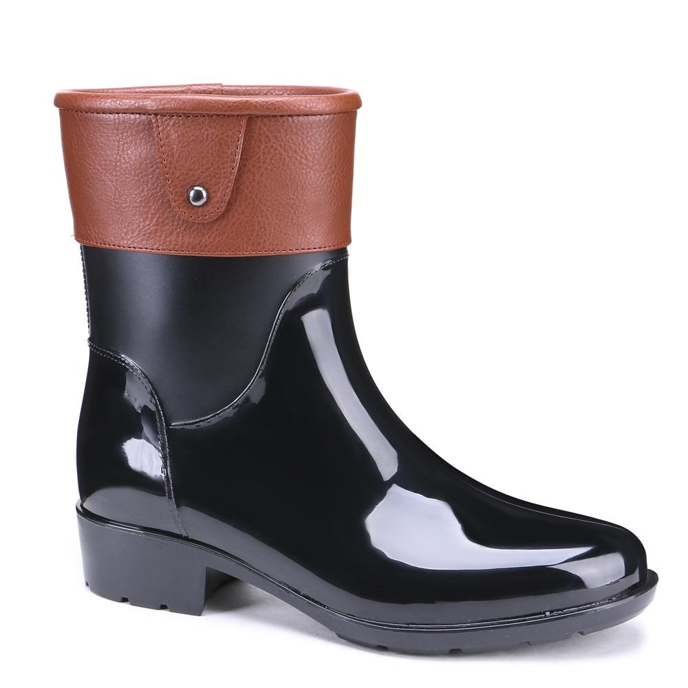 Ladies Mid Calf Rain Boots