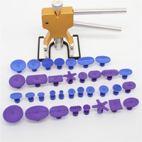 Car Auto Body Paintless Dent Removal Repair Tool Kits Dent Lifter for univeral cars with 34pcs /set Glue Puller Ferramentas