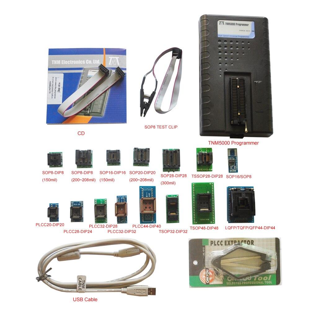2019 Nuovo TNM5000 USB Atmel EPROM Programmatore + 15pc adapter, supporto K9GAG08U0E/fissato (bloccato) RL78 circuito integrato, veicolo elettronico di riparazione