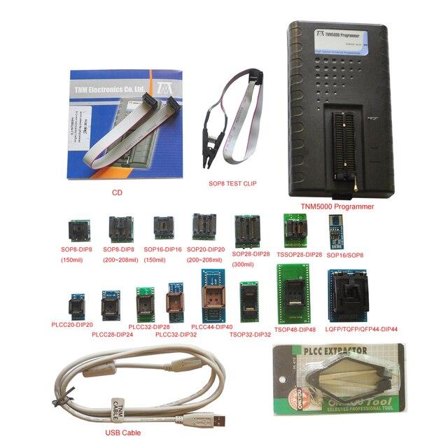 TNM5000 programador USB Atmel EPROM, 15 adaptadores para pc, compatible con chip K9GAG08U0E/secured (locked) RL78, reparación electrónica de vehículos, novedad de 2020