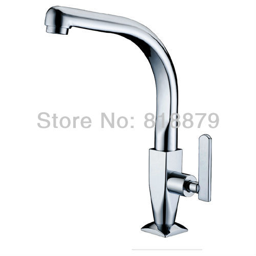 Brass kitchen swiveling tap bathroom lavatory rotating single cold water tap kitchen sink tap