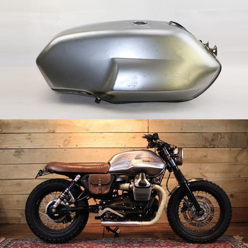 Free Delivery FREE SHIPPING CAFE RACER TANK OEM MOTO GUZZI V7 STONE GAS TANK 17 LITERS