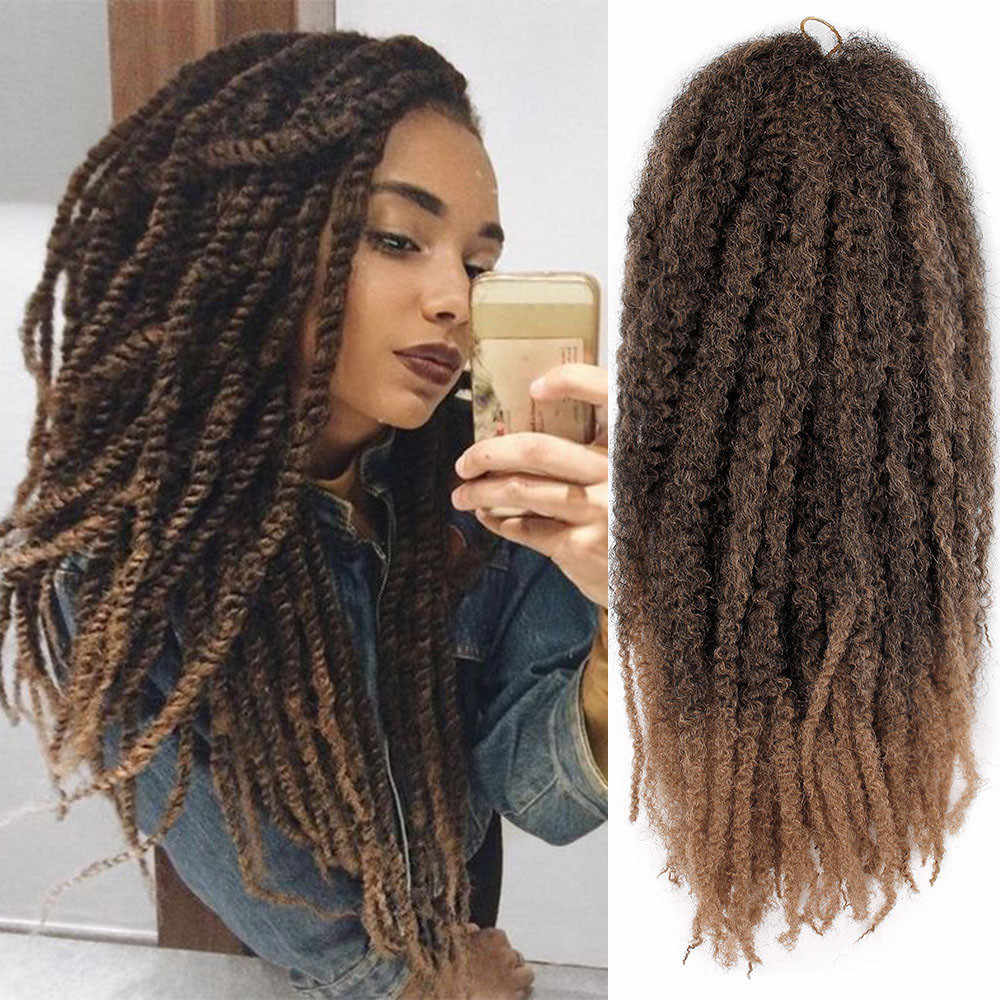 Unique Design Fashionable Brazil Women Twist Braids Wigs Extensions  Synthetic Hair Natural Marley Braids lace front e5528a265a