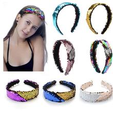 50pcs Headband Cute Girls Sequins Glitter Head Hoop Party Costume Hairband Headwear Hair Accessories *new*
