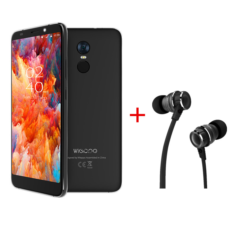 WIEPPO S8 Cellphone 2GB RAM 16GB ROM 5.7'' 18:9 Full Screen LTE MTK6737 Quad Core Mobile Phone LTE 4G Android 7.0 GPS Phone