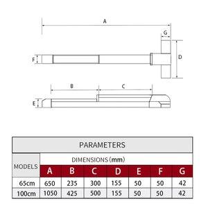 Image 5 - KAIDS dispositivo de salida de pintura de hierro, cerradura para puertas de Escape de incendios, barra de empuje, cerradura de salida con función de alarma