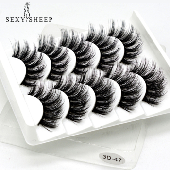 SEXYSHEEP 5Pairs 3D Mink Lashes False Eyelashes Natural/Thick Long Eye Lashes Wispy Makeup Beauty Extension Tools 1