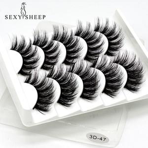 Image 1 - SEXYSHEEP 5Pairs 3D Mink Lashes False Eyelashes Natural/Thick Long Eye Lashes Wispy Makeup Beauty Extension Tools