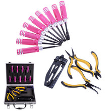 13 in 1 Tool Schroevendraaier Tangen Reparatie Set Rc tool set met Aluminium Case voor RC Model Mini Hand Tool(China)