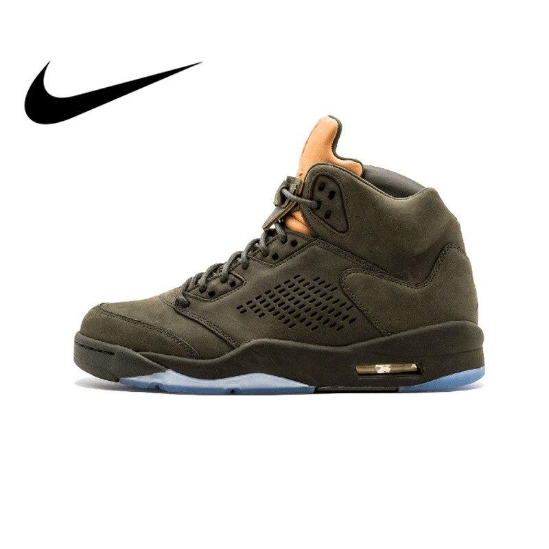 Original Et Authentique NIKE Air Jordan 5 Rétro Prem Prendre de Vol Hommes chaussures de basket Sneakers Sports de Plein Air Étanche 881432