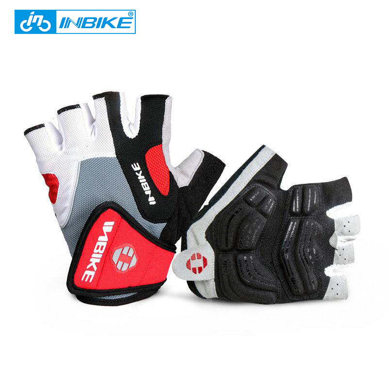INBIKE Cycling Gloves Half Finger Mens Women's Summer Sports Bicycle Gloves Nylon GEL MTB Mountain Bike Gloves Guantes Ciclismo racmmer cycling gloves guantes ciclismo non slip breathable mens