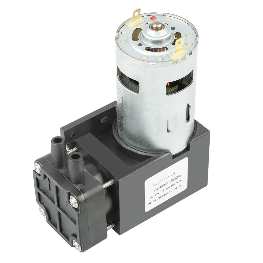 1pc DC12V 42W Mini Small Oilless Vacuum Pump 85KPa Flow 40L min