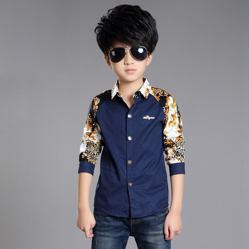 b8f8e73b New Design Kids Boys Clothes 2016 Autumn Print Long sleeved Baby Boy Clothes  Casual Cotton Boys Blouses & Shirts Clothing Hot