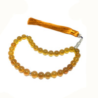 100% Natural Blue Amber 10mm Muslim Taisbha 33 rosary S925 Copper Accessories Advanced Moslem Supplies Wholesale Free Shipping