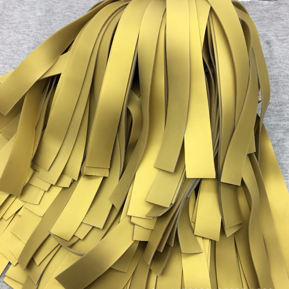 10 pçs 1mm faixa de borracha de espessura slingshots látex natural laranja plana elástico tubo resiliente para estilingue tático catapulta