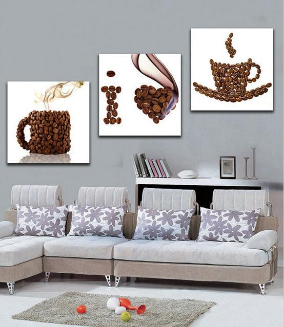 Handmade Modern Decorative Painting Hang Paintings Teapot Cup Oil ...