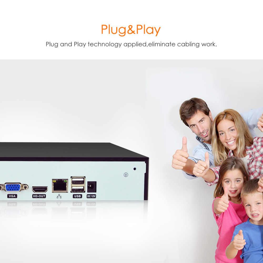 VStarcam HD 4CH NVR de entrada de Audio HDMI 4 canales grabador de vídeo en red para cámara ip sistema de seguridad N400P
