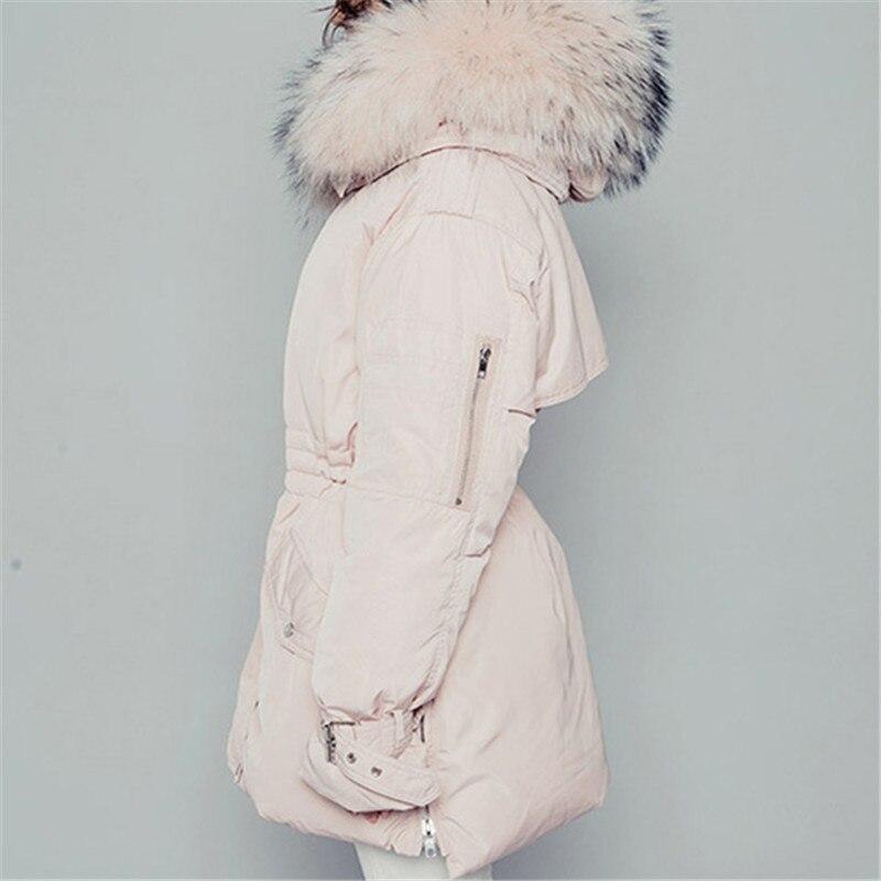 Pink De Long Fourrure Parka Capot Rembourré D'hiver Casaco Épais blue Vestes Coton Femmes Feminino St244 Grand Col Zvaqs Chaud Veste Inverno mnN8wv0