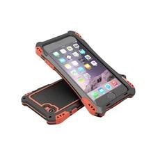 Алюминий Металл Водонепроницаемый Противоударный Углеродного Волокна Жесткий Броня Gorilla Закаленное Стекло Чехол Для iphone 5 5S SE 6 6 s Plus Case