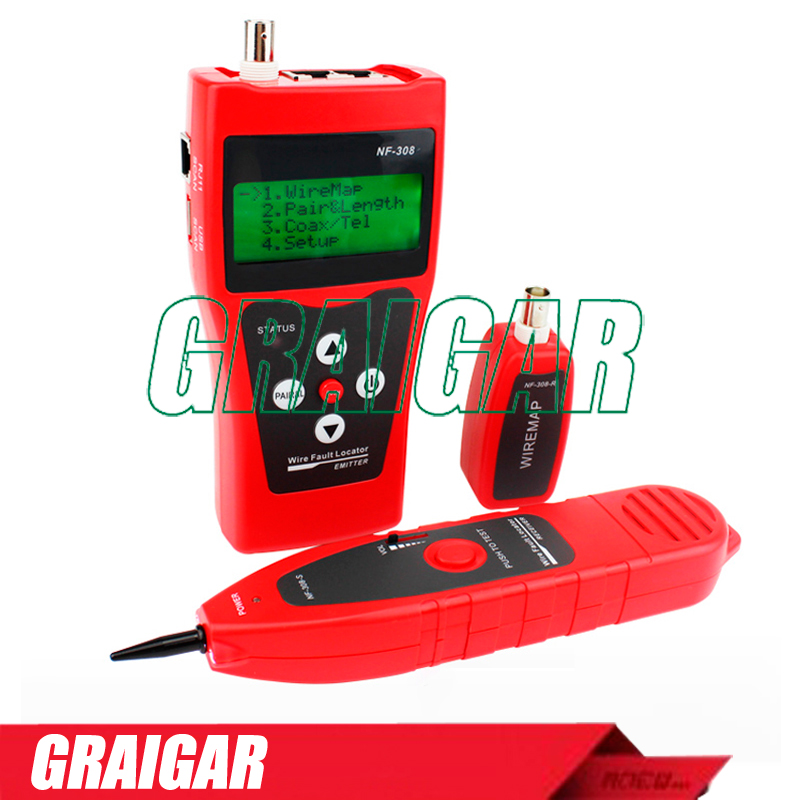 NF308 Multipurpose Network LAN Cable Length Tester 5E 6E cable coaxial RJ45 NF-308  цены