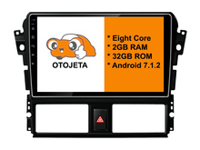 otojeta big screen hd car DVD player radio headunit tape recorder for 13-14 TOYOTA VIOS YARIS android 8.1 multimedia stereo