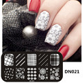 Top Quality Nail Art Templates Nail Polish DIY Stamping Plate 3D Pattern Design Stencils Nail Art Kit Manicure Stainless Tools