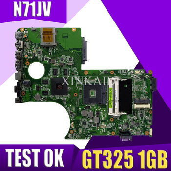 XinKaidi  N71JV mainboard Support I3 I5 CPU GT325 1GB For ASUS N71J N71JV laptop motherboard can  Test work 100% original