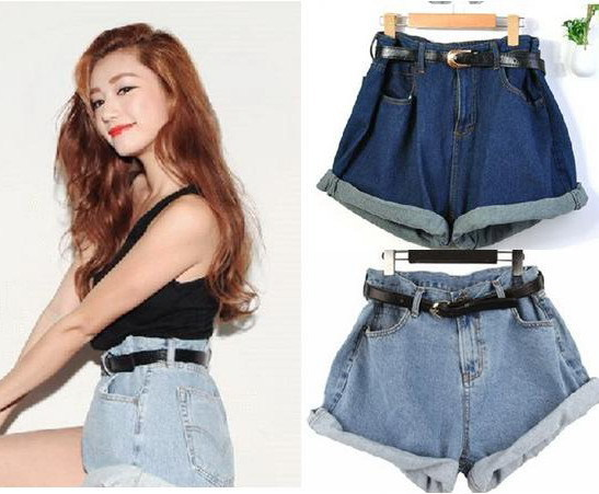 2015 Women's Loose shorts plus size With Sashes Belt summer spring ...