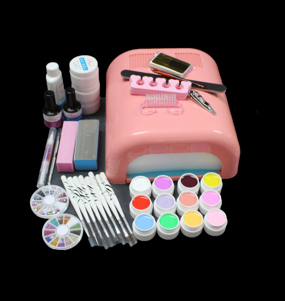 FT-134 Pro gel uv lamp ,manicure tool kit ,gel nail kit ,nail art gel lamp set,nail art tools,nail bursh,free shipping pro nail art uv gel acrylic clipper edge cutter tip manicure tool on sale