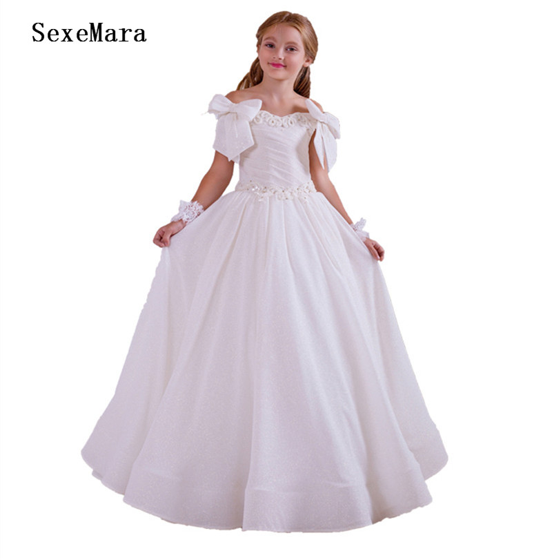 White First Communion Dresses For Girls Vestidos Primera