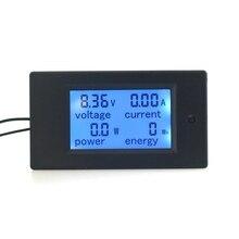 4 In1 50A Amperímetro Voltímetro Digital de CC 100 V 100A Amp Power Energy Watt Volt Tester Meter Panel LCD luz de Fondo Azul Moduel