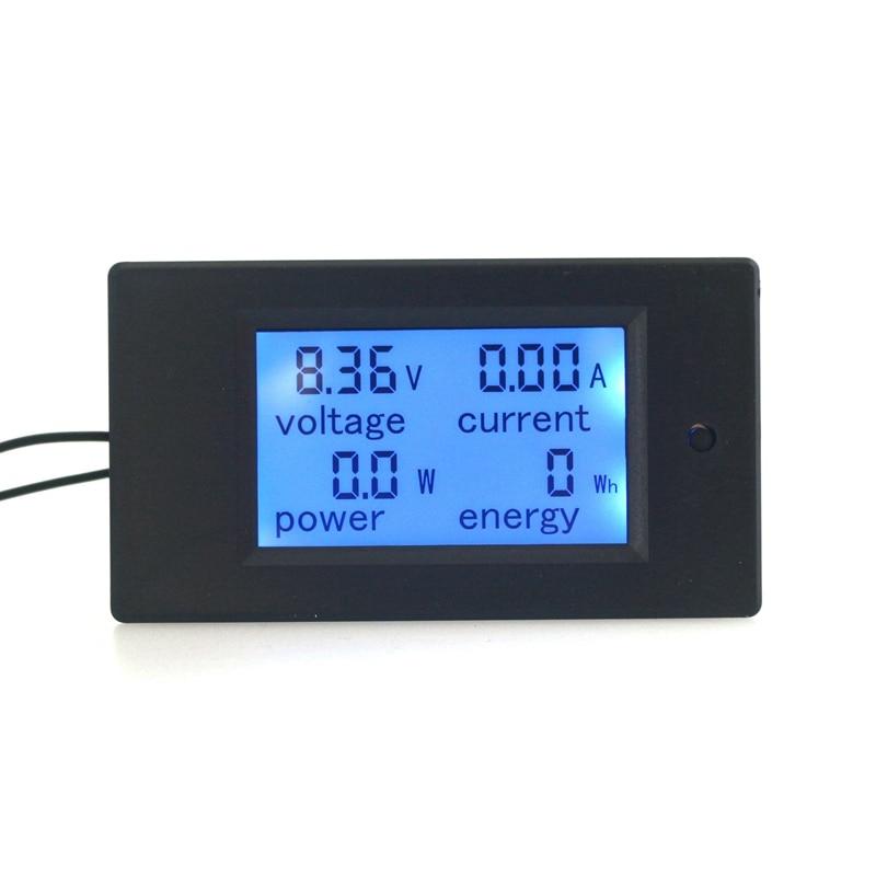 4 In1 Digital Ammeter Voltmeter DC100V 100A 50A Optional Amp Volt Watt Power Energy Tester Meter LCD Blue Backlight Panel Module